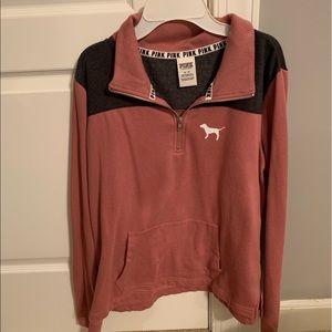 PINK Collared Sweatshirt